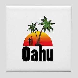 Oahu Surfing Tile Coaster