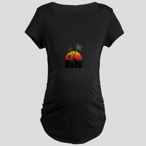 Oahu Surfing Maternity T-Shirt
