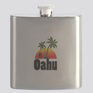 Oahu Surfing Flask