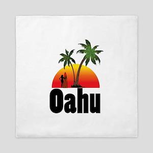 Oahu Surfing Queen Duvet