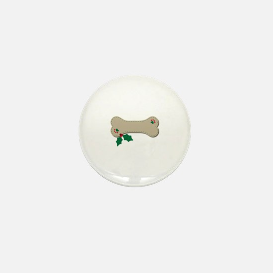 Christmas Bone Mini Button
