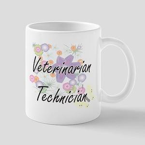 Veterinarian Technician Artistic Job Design w Mugs