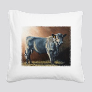 A lot of Bull Square Canvas Pillow