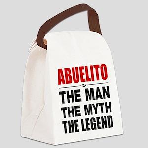 Abuelito Man Myth Legend Canvas Lunch Bag