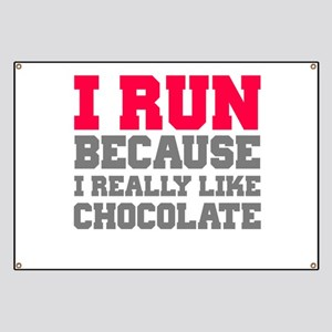 I Run Because I Really Like Cakes Banner