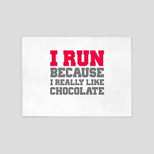 I Run Because I Really Like Cakes 5'x7'Area Rug