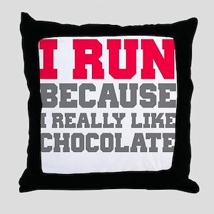 I Run Because I Really Like Cakes Throw Pillow