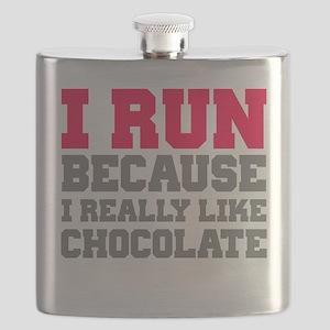 I Run Because I Really Like Cakes Flask