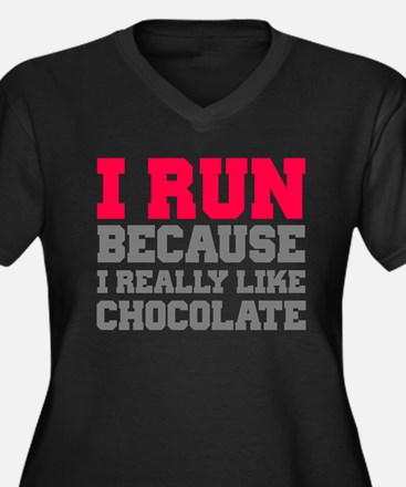 I Run Because I Really Like Cakes Plus Size T-Shir