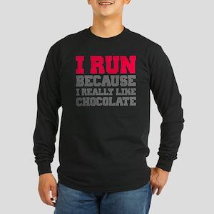 I Run Because I Really Like Cakes Long Sleeve T-Sh
