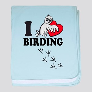 I love Birding baby blanket