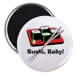 California Roll Sushi Magnet