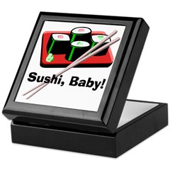 California Roll Sushi Keepsake Box