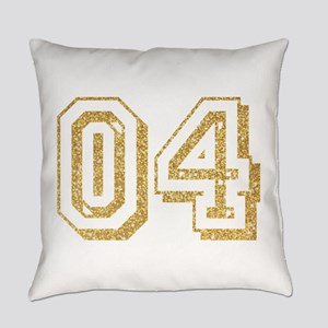 Glitter Number 4 Sports Jersey Everyday Pillow