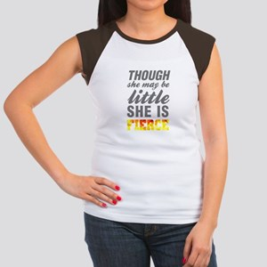 580970f9aa6 Women s Cap Sleeve T-Shirts. Thought she may be little she is fierce gym  workou