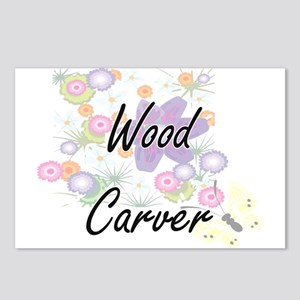 Wood Carver Artistic Job Postcards (Package of 8)