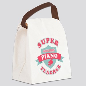Super Piano Teacher Canvas Lunch Bag