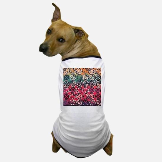 Grunge industrial pattern Dog T-Shirt