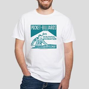 Pocket Billiards White T-Shirt