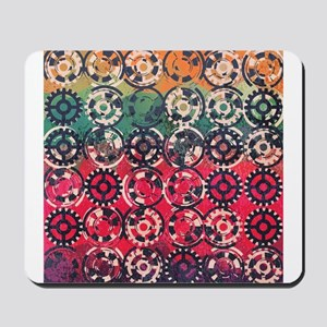 Grunge industrial pattern Mousepad