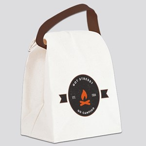 Got Stress? Go Camping. Canvas Lunch Bag