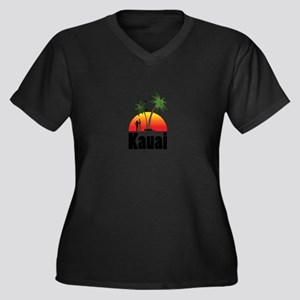 Kauai Surfing Plus Size T-Shirt