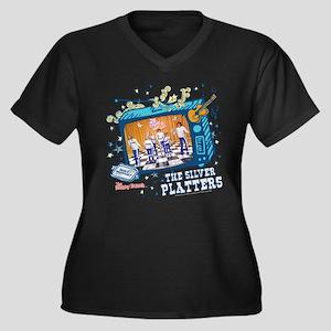 the brady bu Women's Plus Size V-Neck Dark T-Shirt