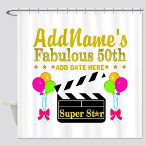 50TH BIRTHDAY Shower Curtain