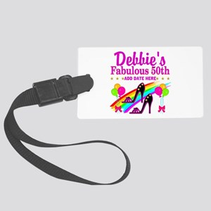 50TH BIRTHDAY Large Luggage Tag