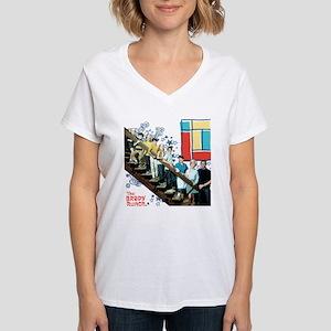 The Brady Bunch: Staircase Women's V-Neck T-Shirt