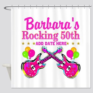 50TH BIRTHDAY Shower Curtain