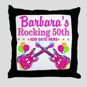 50TH BIRTHDAY Throw Pillow