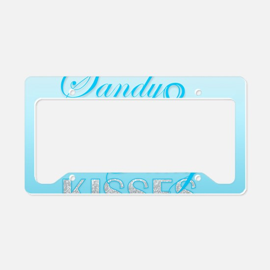 Sandy Toes And Salty Kisses License Plate Holder