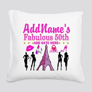 50TH BIRTHDAY Square Canvas Pillow