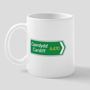 Cardiff Roadmarker, UK Mug