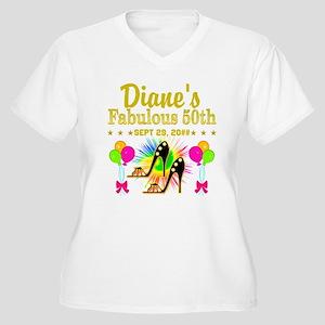 50TH BIRTHDAY Women's Plus Size V-Neck T-Shirt