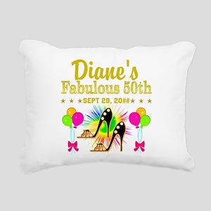 50TH BIRTHDAY Rectangular Canvas Pillow