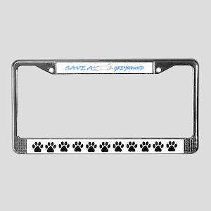 Save A Greyhound! License Plate Frame