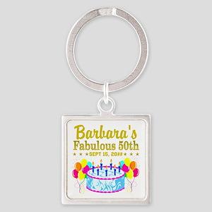 50TH BIRTHDAY Square Keychain
