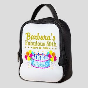50TH BIRTHDAY Neoprene Lunch Bag