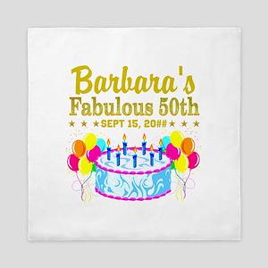 50TH BIRTHDAY Queen Duvet