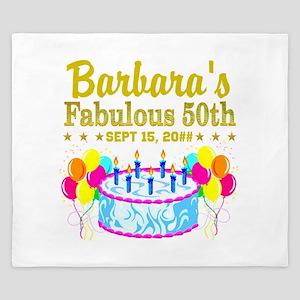 50TH BIRTHDAY King Duvet