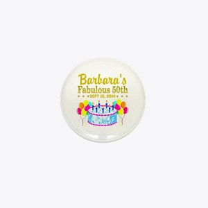50TH BIRTHDAY Mini Button