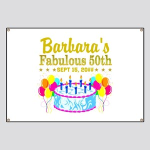 50th birthday banners cafepress