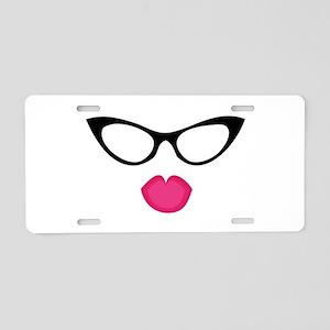 Woman's Glasses Aluminum License Plate