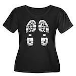 hiking Women's Plus Size Scoop Neck Dark T-Shirt