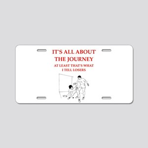 racket and handball Aluminum License Plate
