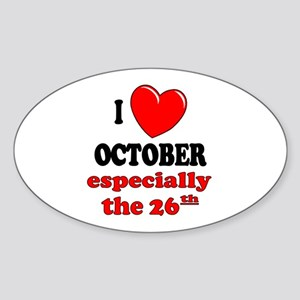 October 26th Oval Sticker