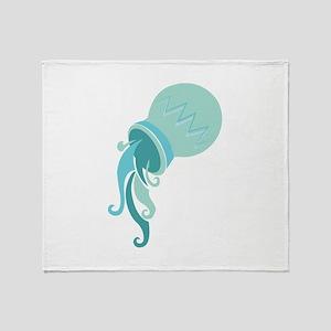 Aquarius Sign Throw Blanket