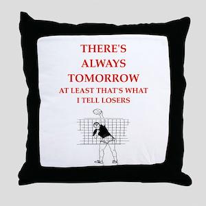 volleyball joke Throw Pillow